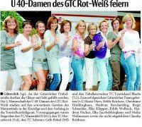 Ü 40-Damen des GTC Rot-Weiß feiern