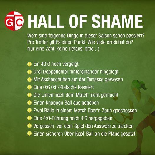 Tennis-Hall of Shame  Wir erwarten nur niedrige Werte, oder haben wir uns getä...
